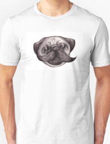 Mr Moustache Pug Unisex T-Shirt