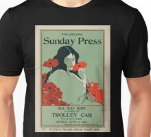 Artist Posters All may ride a complete trolley car free to every reader Sunday Jun 21 1896 0509 Unisex T-Shirt