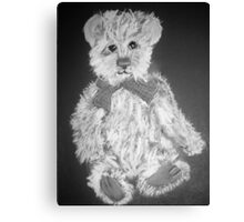 Teddy Bear - Black and White Canvas Print