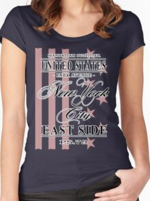 New York City - USA Vintage Flag Women's Fitted Scoop T-Shirt