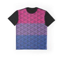 Bisexual 3-D Cubes Flag Graphic T-Shirt