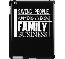 Family Business. (White version) iPad Case/Skin