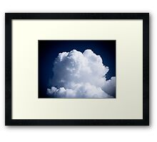 A Whipped Cream Cloud floating Framed Print