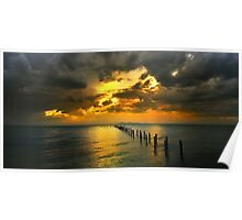 Glowing Sky - Corio bay Poster