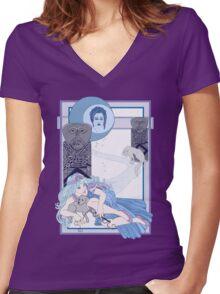 The Tarot Moon Women's Fitted V-Neck T-Shirt