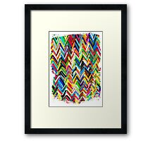 colorfull chevrons Framed Print