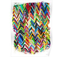 colorfull chevrons Poster