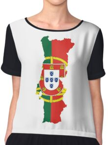 Flag Map of Portugal  Chiffon Top