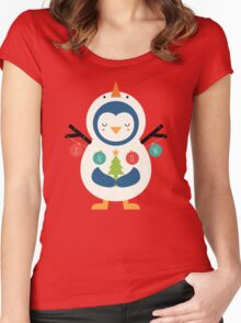 Snow Penguin Women's Fitted Scoop T-Shirt