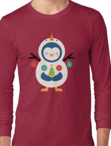 Snow Penguin Long Sleeve T-Shirt