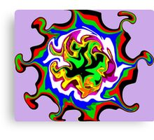 Dizzy Swirly Fractal Abstract Canvas Print