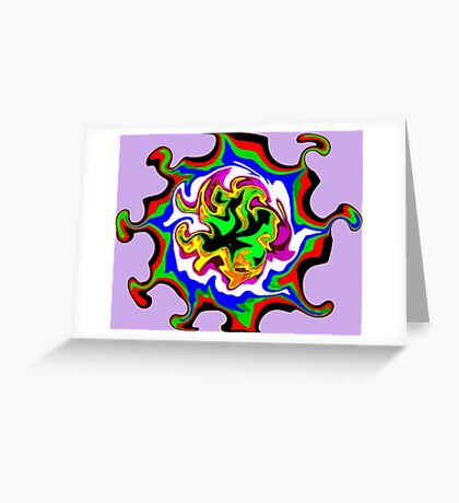 Dizzy Swirly Fractal Abstract Greeting Card
