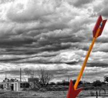 Route 66 - Twin Arrows - Selective Color Sticker