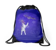 Snowglobe Steampunk Kitty Drawstring Bag