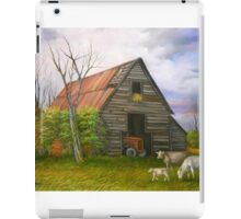 Red Roofed Barn Revisited iPad Case/Skin