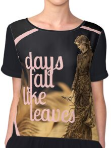 Days Fall like Leaves book sculpture logo Chiffon Top