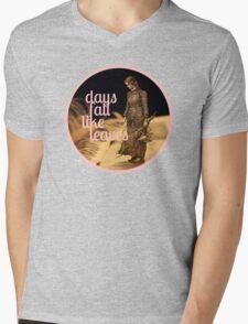 Days Fall like Leaves book sculpture logo Mens V-Neck T-Shirt