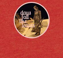 Days Fall like Leaves book sculpture logo Tri-blend T-Shirt