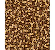 Golden and brown coffee beans Photographic Print