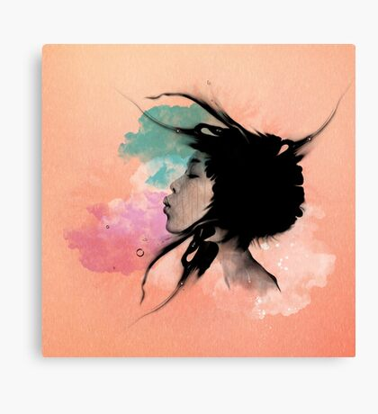 Psychedelic Blow Japanese Girl Dream Canvas Print