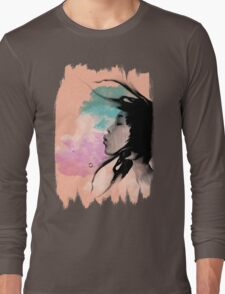 Psychedelic Blow Japanese Girl Dream Long Sleeve T-Shirt