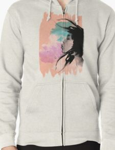 Psychedelic Blow Japanese Girl Dream Zipped Hoodie