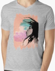 Psychedelic Blow Japanese Girl Dream Mens V-Neck T-Shirt