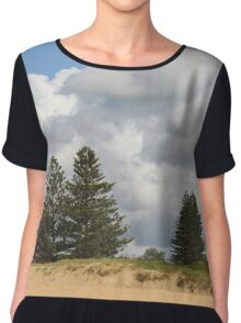 Trees and Clouds Chiffon Top
