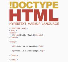 web design - HTML One Piece - Long Sleeve