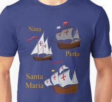Nina, Pinta and Santa Maria T-shirt & leggings only Unisex T-Shirt