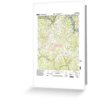 USGS TOPO Map Alabama AL Sunlight 305137 2000 24000 Greeting Card