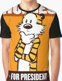 Hobbes For President Graphic T-Shirt