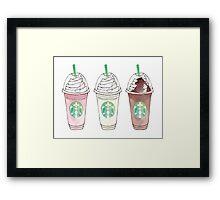 Starbuck's lovers Framed Print