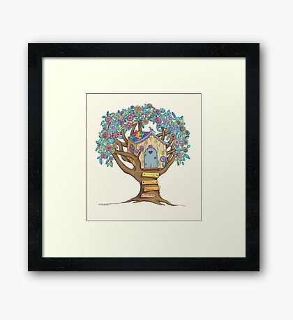 Live Simply, Love Trees Framed Print
