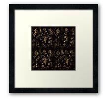 Floral wallpaper Framed Print