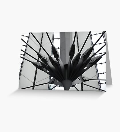 futuristic construction 2 Greeting Card