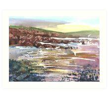 Rocks, Cummingston 3, Moray, Scotland - 2011 Art Print
