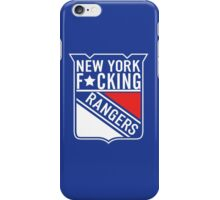 New York F*cking Rangers Logo T-Shirt iPhone Case/Skin