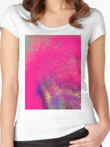 psychedelic barbie Women's Fitted Scoop T-Shirt