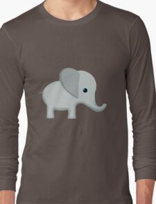 Cute Gray Baby Elephant Long Sleeve T-Shirt