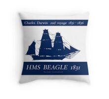 HMS Beagle 1831, tony fernandes Throw Pillow
