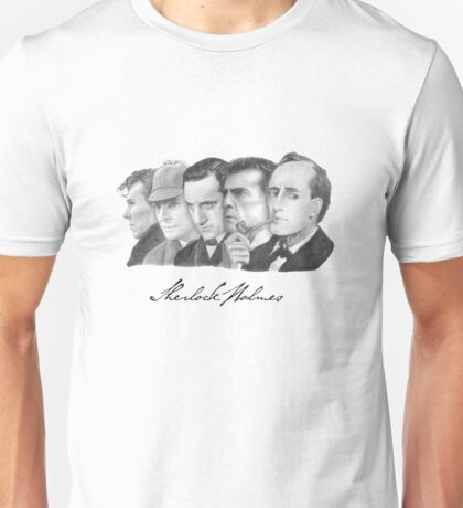 Sherlock Holmes Through the Years Unisex T-Shirt
