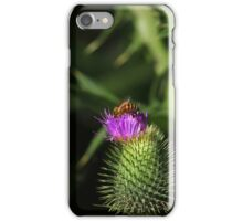 Bee on a Purple Thistle iPhone Case/Skin