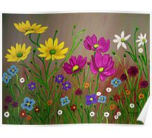 Spring Wild Flowers  Poster
