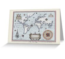 World Map, tony fernandes Greeting Card