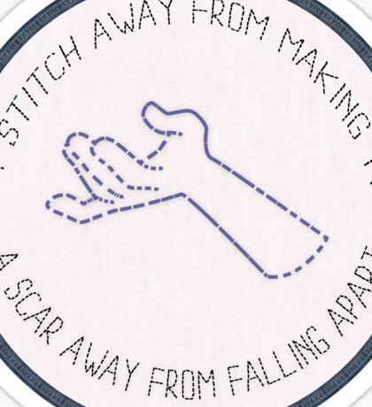 stitch - scar Sticker