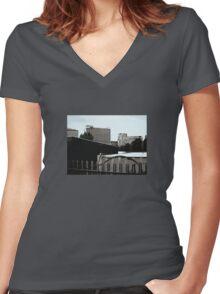 Urban Skyline Women's Fitted V-Neck T-Shirt