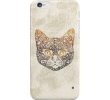 Swirly Cat iPhone Case/Skin