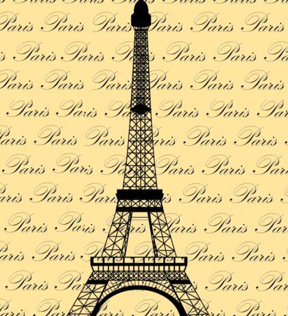 Eiffel Tower Paris on Pale Yellow Sticker