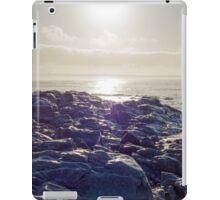 waves over white sunset rocks iPad Case/Skin